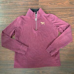 Pink Victoria's Secret 1/4 zip pullover Longsleeve